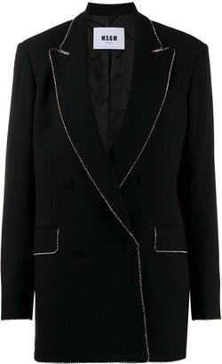 MSGM crystal-embellished oversized blazer