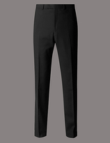 Autograph Black Tailored Fit Wool Trousers