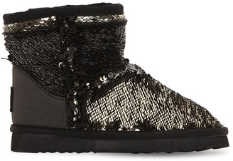Colors of California Two Tone Sequined Ankle Boots