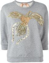 No.21 beaded animal jumper - women - Cotton/Polyester/PVC/glass - 44