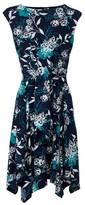 Dorothy Perkins Womens Izabel London Blue Floral Print Dress