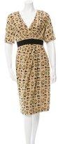 Giambattista Valli Silk Leopard Print Dress w/ Tags