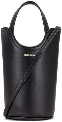 Balenciaga XS Wave Tote in Black   FWRD