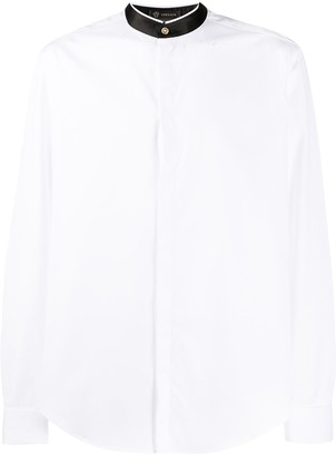 Versace Contrasting Collar Buttoned Shirt
