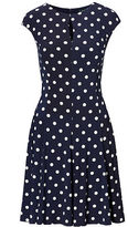 Ralph Lauren Polka-Dot Jersey Dress
