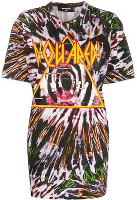 DSQUARED2 oversized tie-dye T-shirt