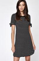 La Hearts Tie Sleeve T-Shirt Dress