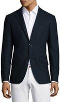 Etro Waffle-Textured Jersey Sport Jacket, Navy
