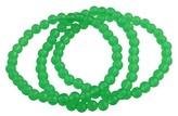 Women's 3 pc Acrylic Bracelet set - Green Colored