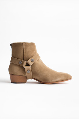 Zadig & Voltaire Sonlux Suede Ankle Boots
