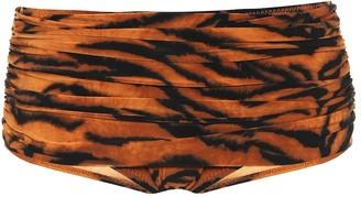 Norma Kamali Exclusive to Mytheresa a Bill tiger-print bikini bottoms