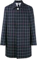 Thom Browne checked midi coat - men - Silk/Cotton/Wool - 1