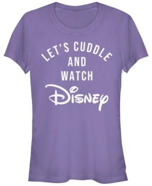 Fifth Sun Women's Disney Logo Disney Cuddles Short Sleeve T-shirt