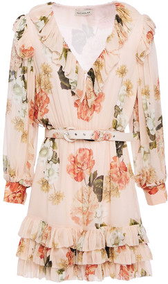 Nicholas Tiered Floral-print Silk-georgette Mini Dress