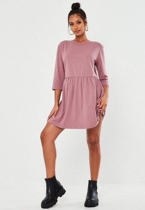 Missguided Rose Basic Jersey Smock Dress