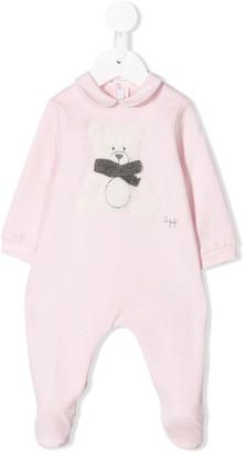Il Gufo Teddybear bow detail pyjamas