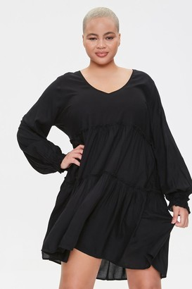 Forever 21 Plus Size Flowy Tiered Peasant Dress
