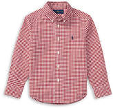 Ralph Lauren Childrenswear Plaid Cotton Poplin Shirt