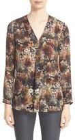 Lafayette 148 New York Women's 'Libby' Print Silk Blouse