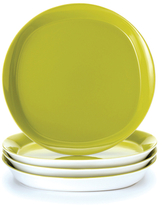 Rachael Ray Dinnerware Round & Square Collection 4-Piece Set of 11-Inch Dinner Plates, Green