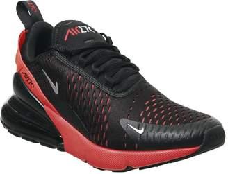 Nike 270 Trainers Black Metallic Silver Bright Crimson