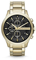 Armani Exchange Goldtone Stainless Steel Chronograph Watch