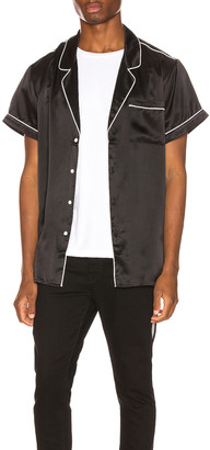 Keiser Clark Silk Pajama Shirt in Black   FWRD