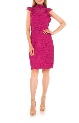 Alexia Admor Kendall Lace Cap Sleeve Sheath Dress
