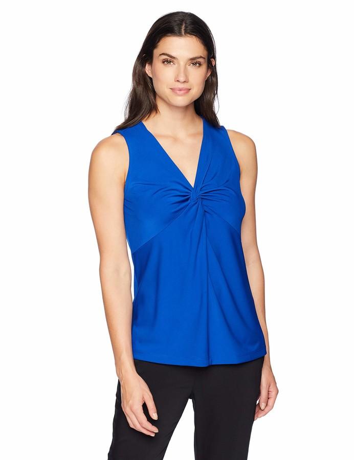 Thumbnail for your product : Lark & Ro Women's Sleeveless Twist V-Neck Blouse