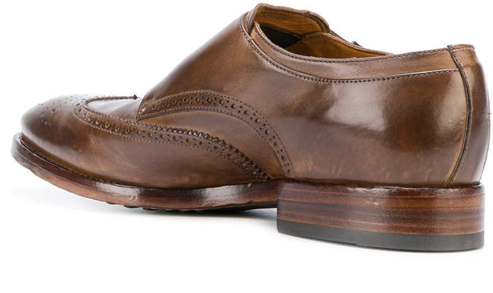 Officine Creative crossover strap monk shoes