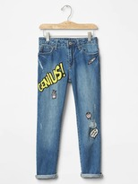 Gap 1969 Graphic Patch Girlfriend Jeans