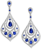 Effy Final Call by Sapphire (2-5/8 ct. t.w.) & Diamond (1 ct. t.w.) Chandelier Drop Earrings in 14k White Gold