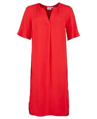 Saint Tropez Woven Tunic Dress Colour: TOMATO, Size: SMALL