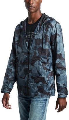 True Religion Men's Non-Denim Casual Jackets BLACK - Blue Camo Lightweight Packable Jacket - Men