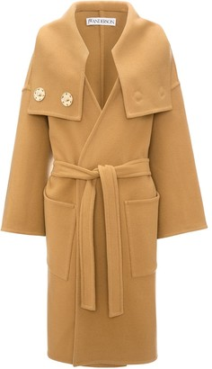 J.W.Anderson Wrap Coat With Oversized Collar