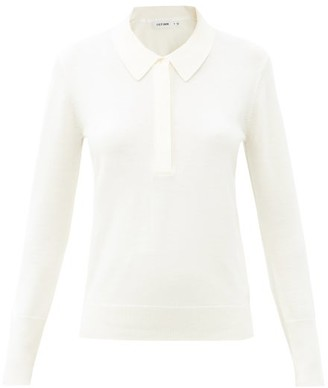 Cefinn Josie Point-collar Wool Sweater - Cream