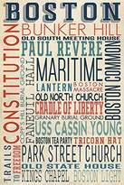 Boston, Massachusetts - Typography (9x12 Art Print, Wall Decor Travel Poster)