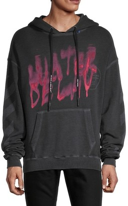 Off-White Water Delay Cotton Hoodie
