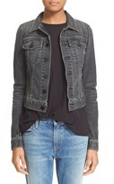 Alexander Wang Women's Denim X 'Axle' Crop Denim Jacket