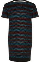 River Island Girls red and blue stripe t-shirt dress