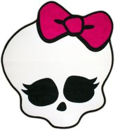 Monster High White Skull Bedroom Bathroom Decorative Accent Rug