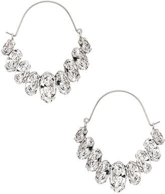 Isabel Marant Ho La La Earrings in Transparent & Silver | FWRD