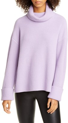 Alice + Olivia Cross Back Wool & Cotton Blend Sweater