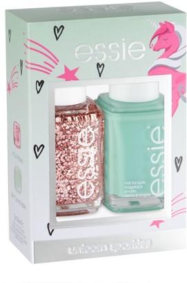 Essie Nail Polish Unicorn Sparkles Duo Kit