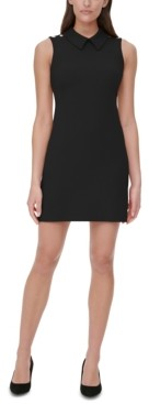 Tommy Hilfiger Collared Scuba Crepe Sheath Dress