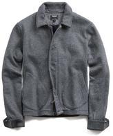 Todd Snyder Japanese Knit Deck Jacket in Dark Grey