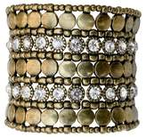 Zirconite Multi-Strand Bracelet with Bezel Crystals - Gold