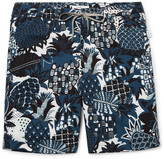 Onia Charles Mid-Length Printed Swim Shorts