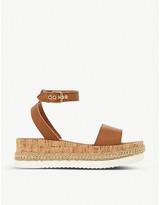 Dune Krest cork-wedge leather sandals