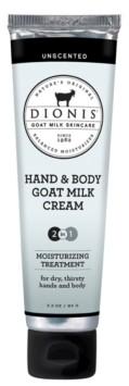 Dionis Hand Body Goat Milk Cream, Unscented, 3.3 oz